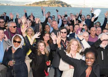 Driving Results group members show their support of the 2017 Chauffeur Driven executive retreat in San Francisco