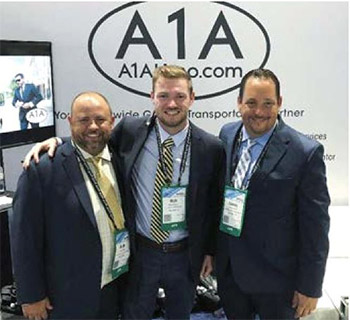 (L to R) Keith Soraci, Rick Versace Jr., and James Parkes of A1A Airport and Limousine Service.