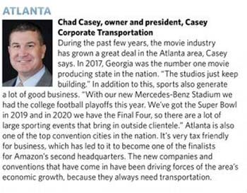 Chad Casey - Casey Corporate Transportation, Atlanta, GA  - Wheels in Motion Group