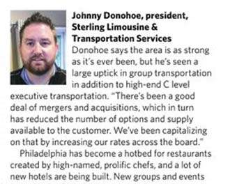Johnny Donohoe - Sterling Limousine & Transportation Services, Philadelphia, PA - Spinning Wheels Group