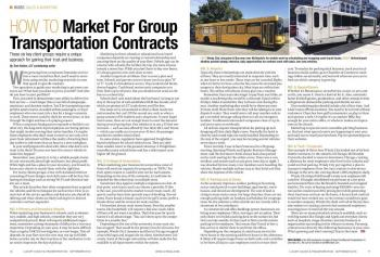 How to market for group transportation contracts
